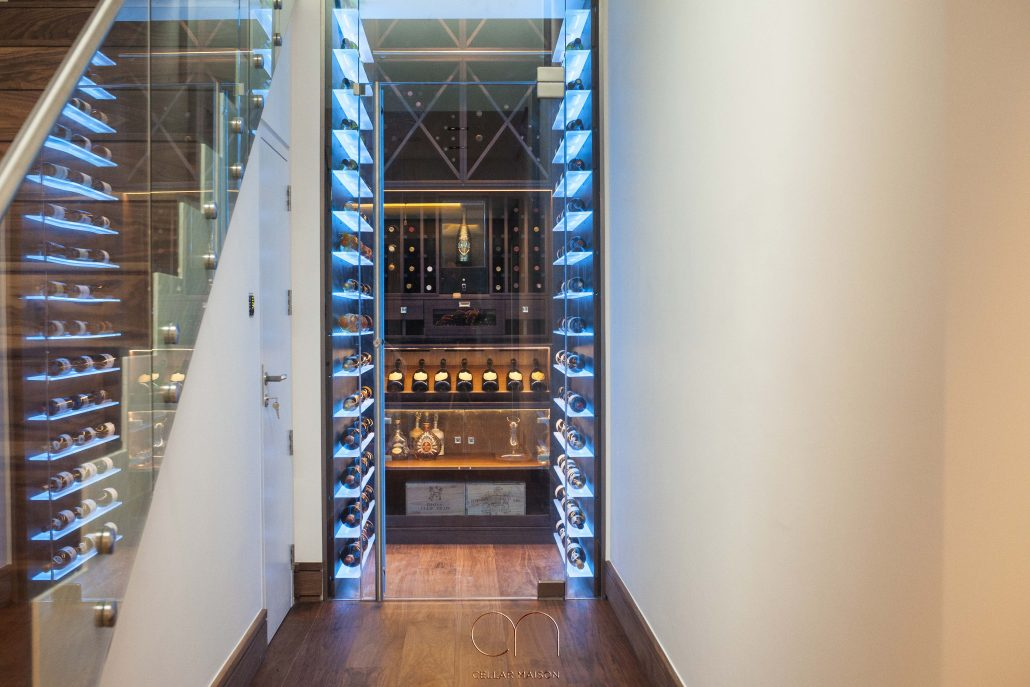 Cellar Showcase Bespoke Wine Room With Cigar Humidor What Could Be More Classically Luxurious Than Selecting A Beautiful Bottle Of Bordeaux And A Cigar From Your Very Own Bespoke Home Wine Cellar At Home In Our Latest Cellar Showcase We